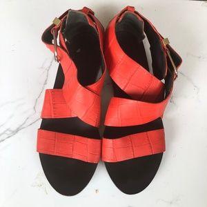 Balenciaga  Red Orange Gladiator Sandals